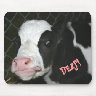 Funny Derp Cow Mousepad