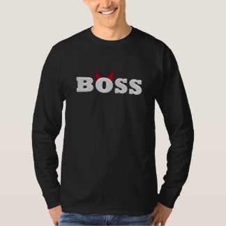 Funny Devil Boss with Horns T-Shirt