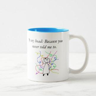 Funny dialog between boss and employee coffee mug