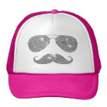 Funny Diamond Moustache With Glasses Cap