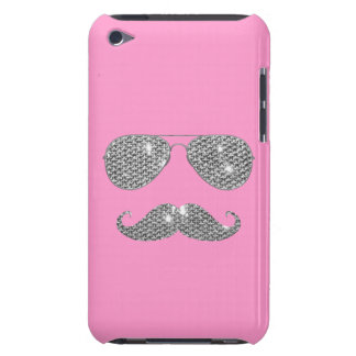 Funny Diamond Mustache With Glasses Barely There iPod Case