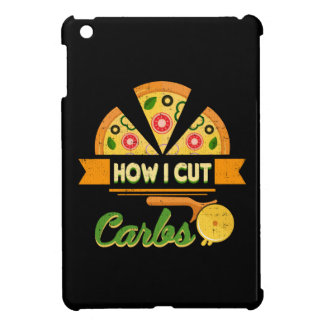 Funny Diet Humor - How I Cut Carbs - Pizza Novelty iPad Mini Cases
