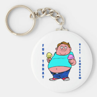 Funny Dieting Key Chain