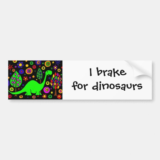 Funny Dinosaur Abstract Art Bumper Stickers