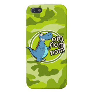 Funny Dinosaur bright green camo camouflage iPhone 5/5S Cover
