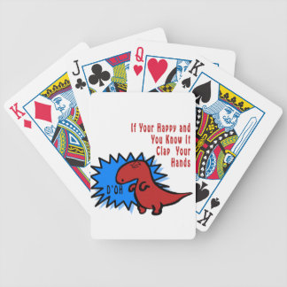 Funny Dinosaur Can't Clap Bicycle Playing Cards