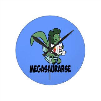 Funny dinosaur round clock