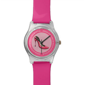 Funny Diva Pink Girly Design Watches