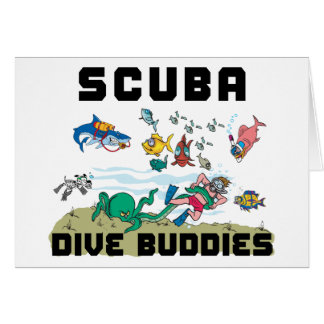 Funny Dive Buddy SCUBA Dive Buddy Card