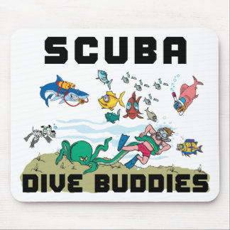 Funny Dive Buddy SCUBA Dive Buddy Mouse Pads