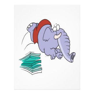 funny diving swimmer elephant cartoon 21.5 cm x 28 cm flyer