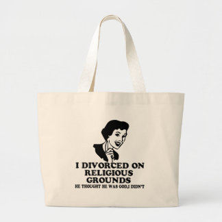 Funny divorce large tote bag