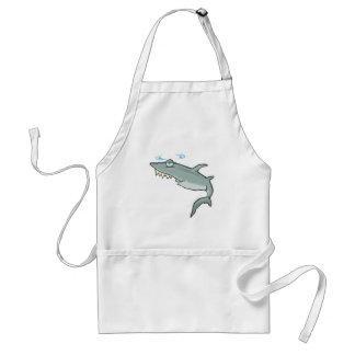 funny dizzy shark standard apron
