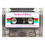 Funny DJ 80s Cassette Tape 40th Birthday 13 Cm X 18 Cm Invitation Card