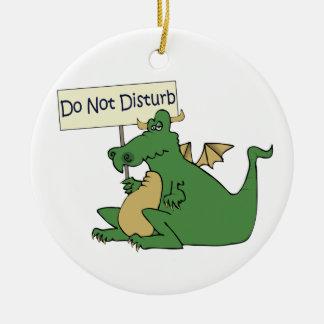 Funny Do Not Disturb Door Hanger Christmas Ornament