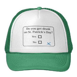 Funny: Do you get drunk on Saint Patrick´s Day?, Trucker Hat