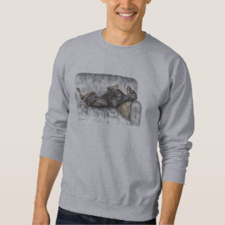 Funny Doberman on Sofa Sweatshirt