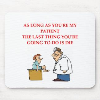 funny doctor joke mouse mat