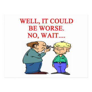 funny doctor joke postcard