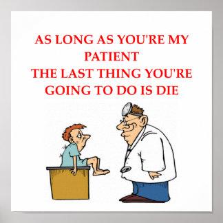 funny doctor joke poster