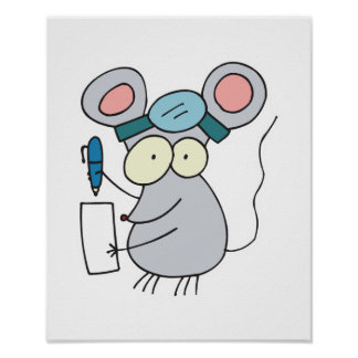 funny doctor mouse poster
