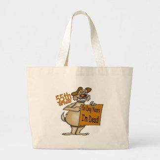 Funny Dog 55th Birthday Gifts Jumbo Tote Bag