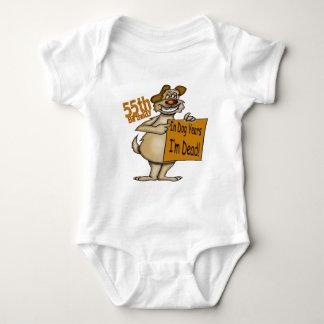 Funny Dog 55th Birthday Gifts Tee Shirt