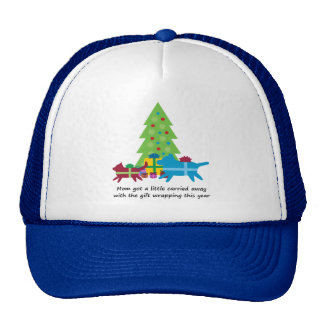Funny Dog and Cat Christmas Presents Mesh Hats