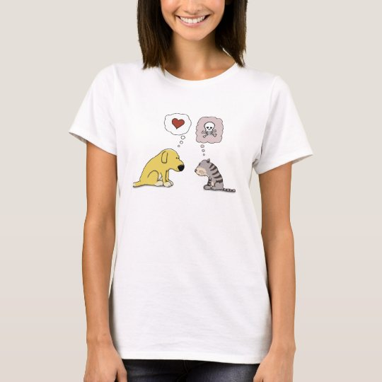 Funny Dog and Cat Love and Hate T-Shirt