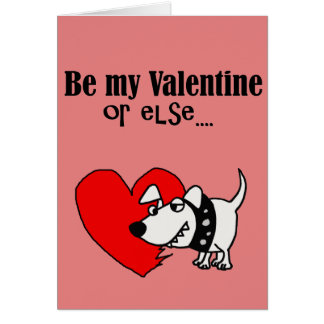 Funny Dog Cartoon Valentine's Day Card