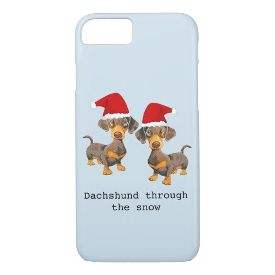 Funny Dog Christmas iPhone 7 Case