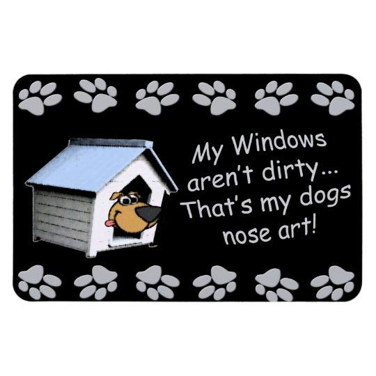 Funny Dog Comic - Nose Art Rectangular Photo Magnet