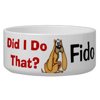 Funny Dog Customized Dog Bowls
