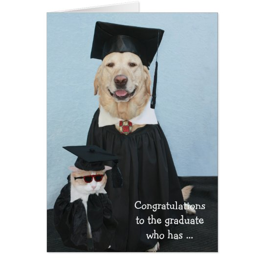 Funny Dog Graduation Card