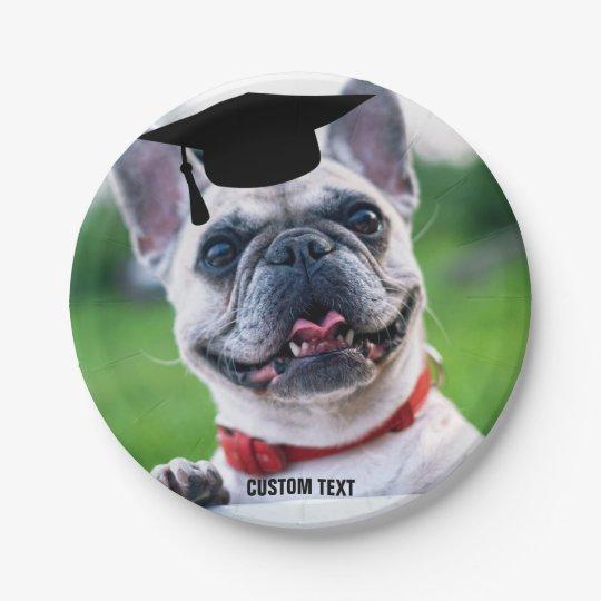 Funny Dog Graduation French BullDog Custom Photo Paper