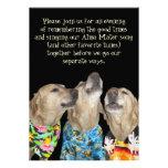 Funny Dog Graduation Party Invitation