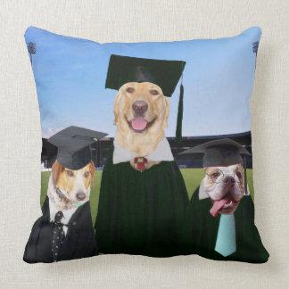 Funny Dog Graduation Pillow Throw Cushion