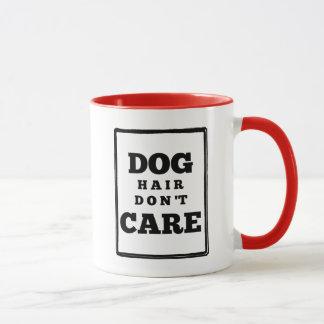 Funny Dog Hair Don't Care Custom Color Mug