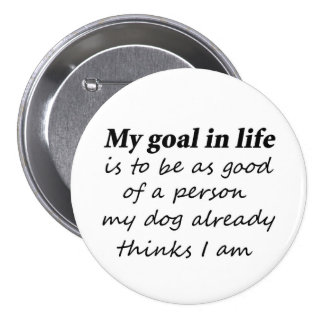 Funny dog humor birthday gift idea gifts buttons