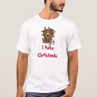 Funny Dog I Hate Christmas Holidays Lights T-Shirt