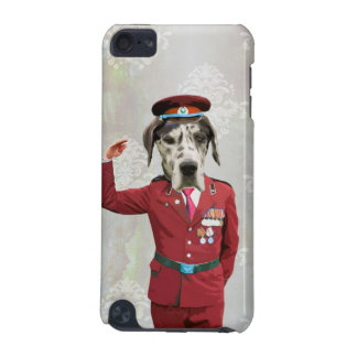 Funny dog in red uniform iPod touch 5G covers