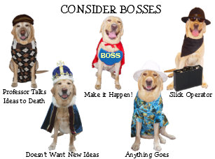 Funny Dog Lab Boss Birthday Card