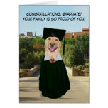 Funny Dog/Lab Graduation from Family Greeting Card