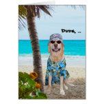 Funny Dog/Lab Hawaiian Birthday Greeting Card