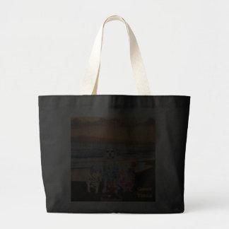 Funny Dog/Lab/Hound on the Beach Jumbo Tote Bag