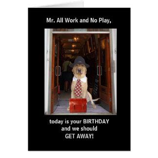 Funny Dog/Lab Husband Birthday Greeting Card