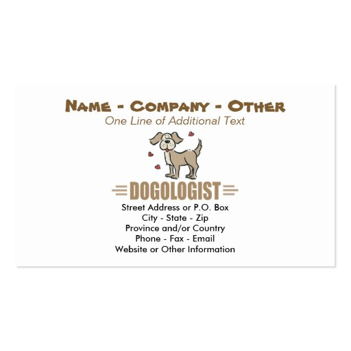 Funny Dog Lover Business Card Templates