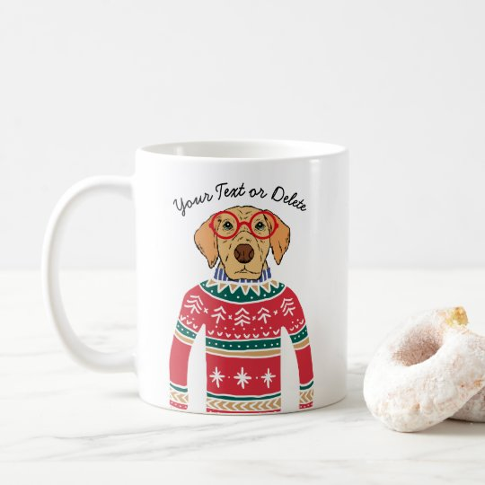 Funny Dog Lover Dog Wearing Ugly Christmas Sweater