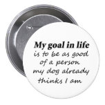 Funny dog lover pet humour gifts novelty buttons
