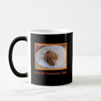 Funny Dog Morphing Halloween Mug
